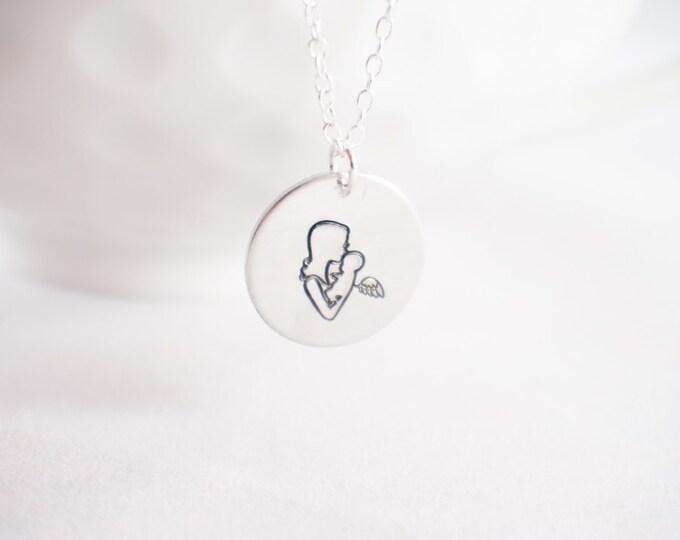 Baby Angel Necklace - Angel baby - memorial necklace - miscarriage necklace - loss of baby  Miscarriage memorial - baby memorial