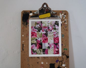 Junk Mail Art - She's So Floral
