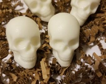Skull Soap (Set of 4), skulls, soaps, Halloween Soap, skull, goats milk, shea butter