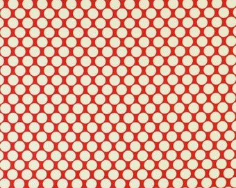 Pre-Order, Amy Butler Full Moon Polka dot in Cherry  /quilting cotton Fabric Canada/ half yard