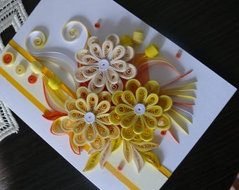 Greeting quilling card, Quilling card, wedding card, birthday card, Anniverrsary card