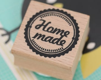 Home Made Wooden Rubber Stamp - Craft / Scrapbooking