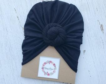 Onyx Black Turban