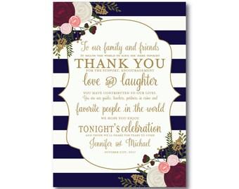 Vintage Wedding Thank You Card, Fall Wedding, Vintage Floral, Floral Wedding, Vintage Wedding, Wedding Thanks, Wedding Thank You Card #CL159