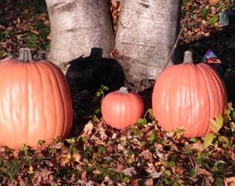 Artificial Pumpkins, 10 inch Tall 28.5 inch round.