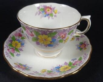 Teacup and Saucer Colclough Teacup Set, English Teacup