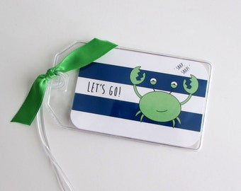 Luggage Tag Personalized Travel Tag Custom Luggage Identification Tag Baggage ID Tag Vacation Suitcase Tag Kids Luggage Tag Carry On Bag Tag