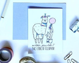 No prob-llama birthday card