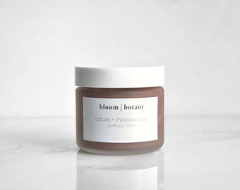 Cocoa Purifying Mask, Cacao Mask, Acne Mask, Acne Scar Mask, Clay Face Mask, Mud Mask, Detoxifying Mask, Exfoliating