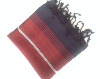 Turkish Pareo towel, Herbal silk towel, beach towel , bath towel,  wedding party, gift,red ,color