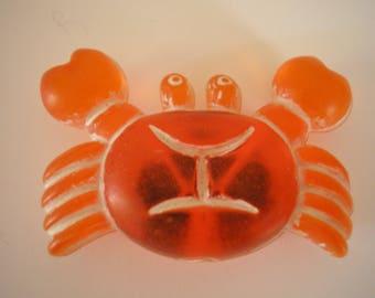 Little crab or sign cancer plastic orange