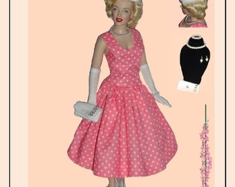 Doll Clothes PDF Sewing Patterns for 16'' FM Vinyl Marilyn Monroe  Doll by NVME