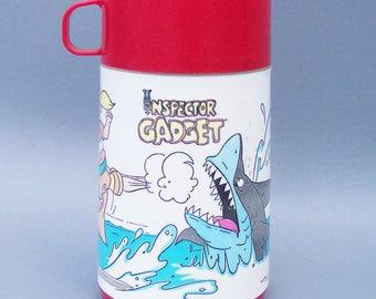 Vintage 1994 Inspector Gadget Plastic Thermos C8