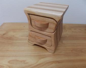 Small Jewelry Box, Cherry Wood Jewelry Box, Bandsaw Jewelry Box, Key Box, Trinket Box