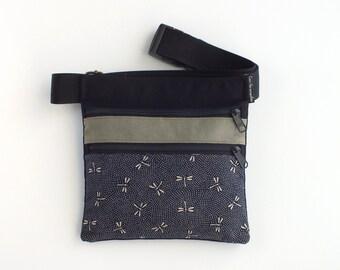 Bolso libélulas, riñonera dos cremalleras, bolso para cintura, riñonera para mujer, bolso verano