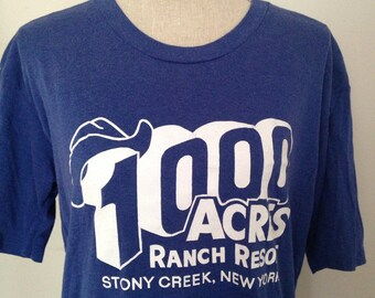 Vintage 1000 Acre Ranch Resort Stony Creek NY Tshirt