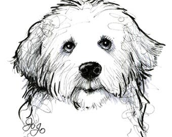 Pen and ink sketch of your pet. You pay when your sketch is completed.