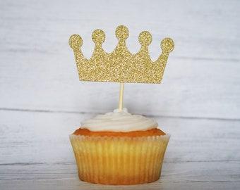 Glitter Crown Cupcake Topper