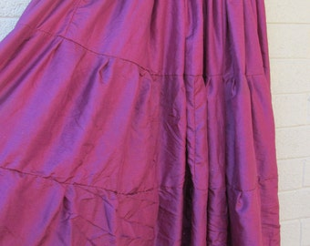 burgundy plus size, tiered skirt