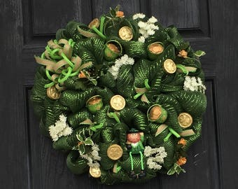 St. Patrick's Day Wreath | St. Patty's Day Wreath | Mesh Wreath | Green Wreath | Uniquely You