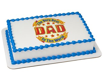 Best Dad in the World Edible Cake Topper