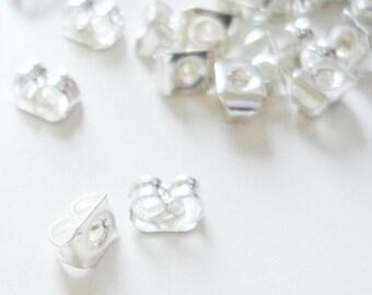 Set of 200 butterflies earrings silver clasps