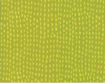 Ruffles Lime Green Cotton Woven,  Just Another Walk in the Woods by Moda