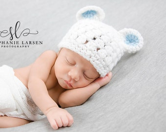 Newborn Baby Boy Bear Hat, Teddy Bear Hat, Newborn Hat for Boy, Crochet Bear Outfit, Crochet Baby Hat, Baby Hat for Boy, Coming Home Outfit
