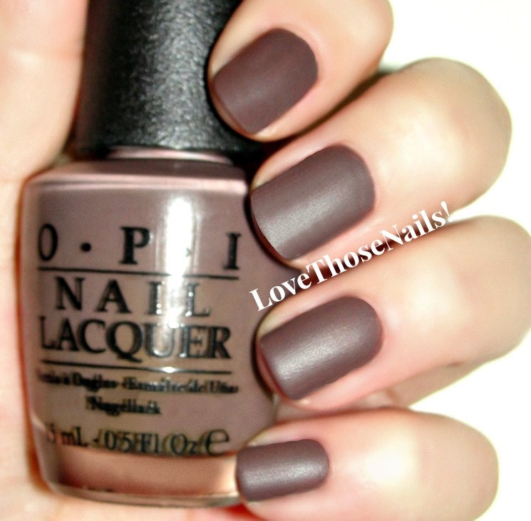 OPI Chocolate Suede Matte Manicure ~ You Don\'t Know Jacques, OPI ...