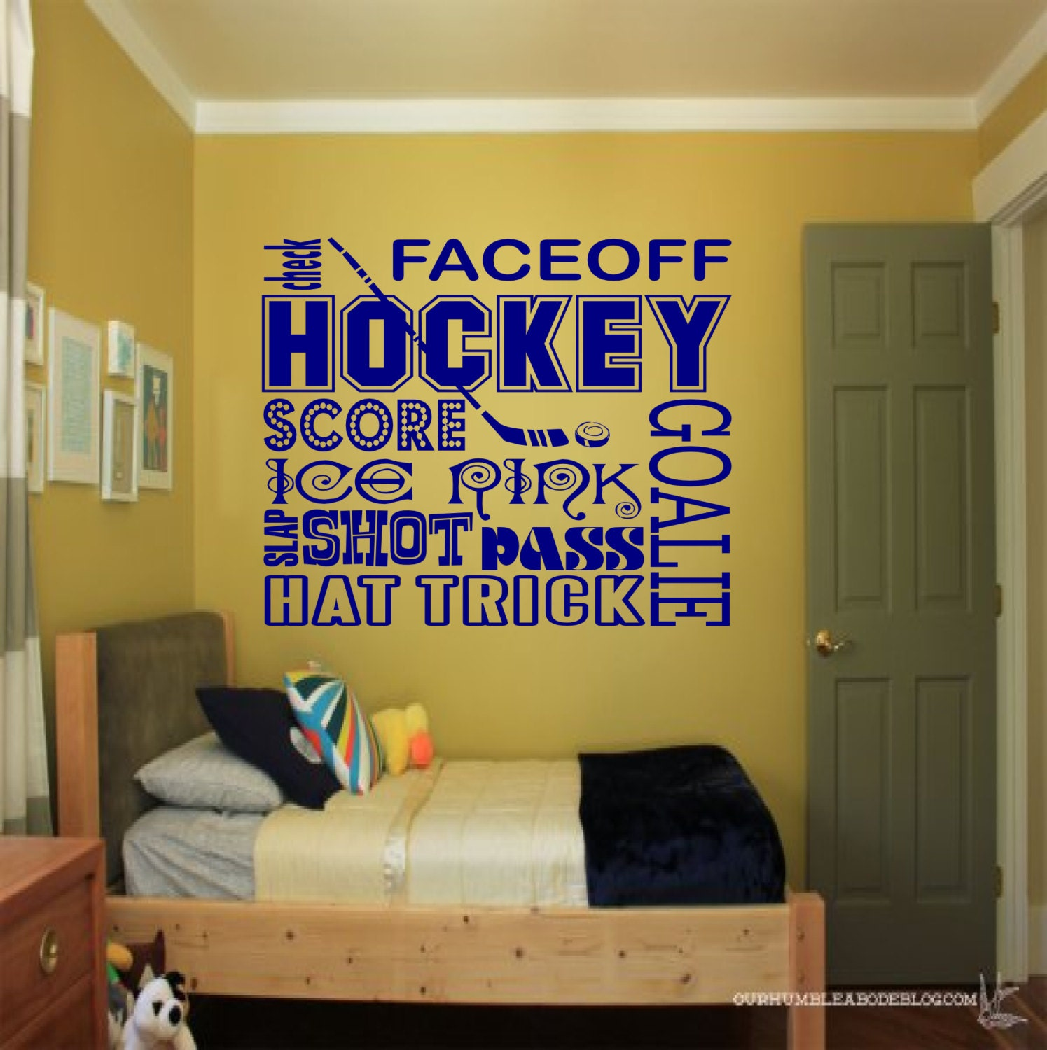 Hockey Collage wall decal sports wall decals hockey wall