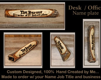 Desk name plate - wood name plate - office gift - co worker gif - employees gift -Welcome sign, family name sign - house sign, address sign