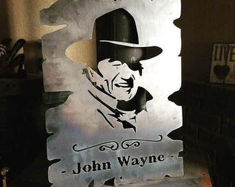 John Wayne Metal Sign