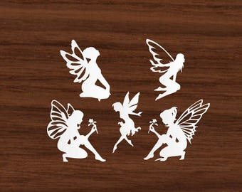 Cardstock Fairy Silhouette Shapes
