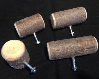 4 Rustic Twig Drawer Pulls. free shipping