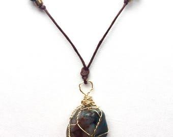 Chrysocolla Gemstone Necklace