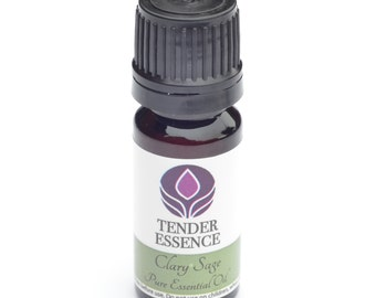 Clary Sage Essential Oil. Aromatherapy 10ml Bottle.