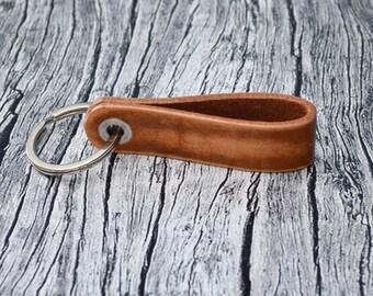 Genuine Leather Key Fob // Keychain Wristlet - Leather Keychain - Leather Key Holder - Mens Keychain - Leather Key Ring - Leather Key Chain