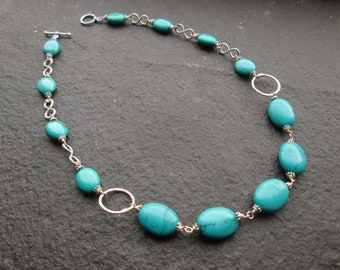 Turquoise Chunky Beaded Necklace