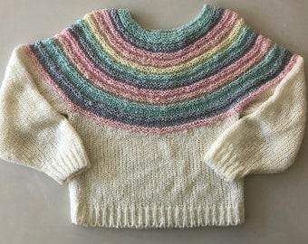 80's Pastel Rainbow Sweater