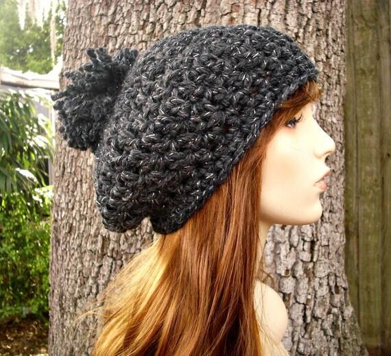 Instant Download Crochet Pattern - Womens Hat Pattern - Crochet Hat Pattern - Pom Pom Beret Pattern - Womens Accessories