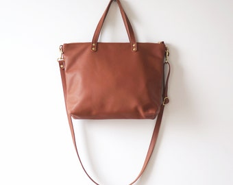 Red Rust Leather Day Bag