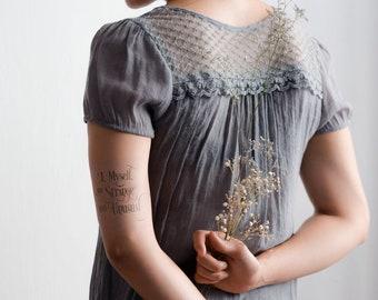 I Myself Am, Strange & Unusual temporary tattoo / heart temporary tattoo / temporary tattoo /  tattoo - Set of 2 - Beetlejuice