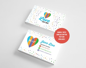 Rodan and Fields Business Cards, Dotted Pattern, RF Cards, Skincare Business Card, Personalized, Digital, Printable