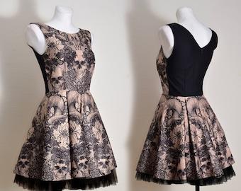 Goat Skull fall winter dress S 6 36 size dress ready to send