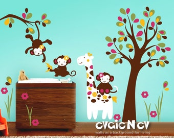 Cocalo Jacana Bedding, Nursery Wall Decal - Baby Wall Decals and Monkey Wall Decals - PLMC010L