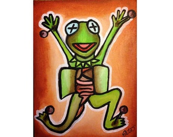 Kermit Dissection Print 11x14in
