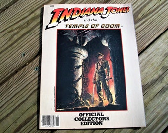 Vintage 1984 Indiana Jones And The Temple Of Doom Official Collectors Edition Magazine