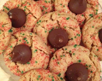 Homemade-Chocolate Peanut Butter Kiss Cookies-Peanut Butter Cookie