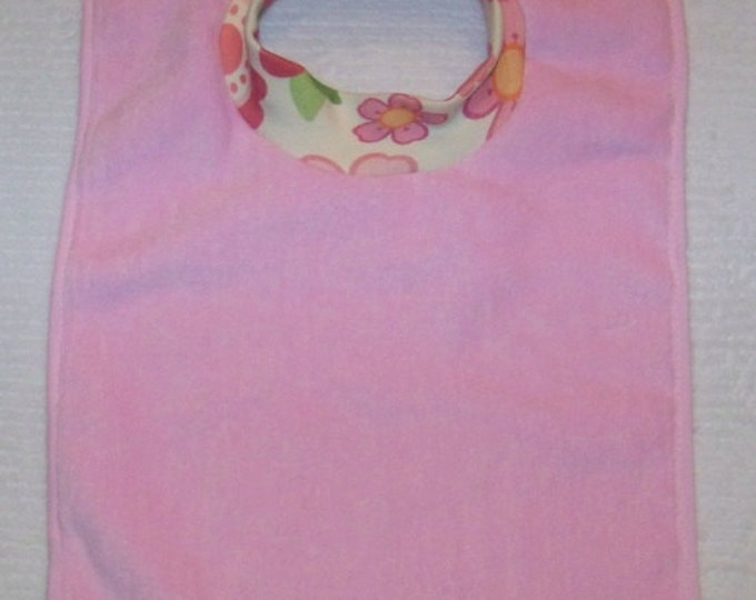 Towel Bib by PETUNIAS - absorbent washable dryable floral organic knit baby toddler gift