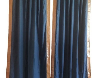 """Pair of 50"""" x 94"""" back tab Bentley Club Drapes - lined"""